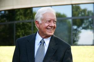 October 2005. Former U.S. President Jimmy Carter.
